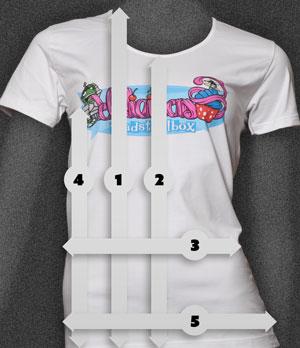 Toadstoolbox ladyfit T-paita mitat